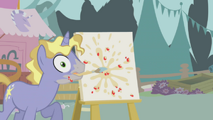 Canvas is splattered with apple pulp S1E12