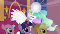 Celestia uses magic S2E02