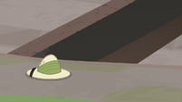 Daring Do's hat outside temple entrance S9E21
