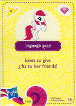 Diamond Rose Collector Card
