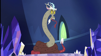 Discord turns into a rattlesnake again S5E22