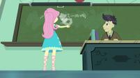 Fluttershy erasing the chalkboard EGDS10