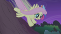 Fluttershy speeding down the slope S1E02.png