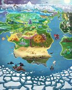 MLP The Movie background art - Expanded map of Equestria