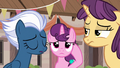 Night Glider and Sugar Belle looking disoriented S6E25.png