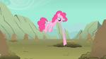 Pinkie Pie biting Fluttershy's tail S1E19
