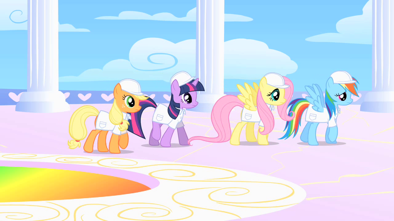image ponies in cloudsdale s1e16 png my little pony friendship
