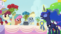 Princess Luna judging the royal rose contest S7E10