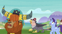 Rutherford and Gruff see the giant monster S8E1