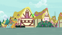 Snips and Snails walking through Ponyville S8E10