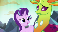 "Starlight Glimmer ""Thorax and I can talk about it"" S7E1"