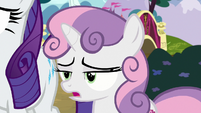 Sweetie Belle sighing with exasperation S7E6
