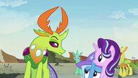 Trixie shrinking away from Thorax S7E17