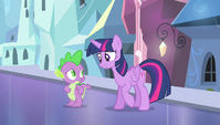Twilight tells Spike he can't light fires with his mind S4E24
