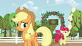 Apple Bloom balances a tower of bowling pins on her nose S5E17.png