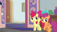 Apple Bloom calls over to Cozy Glow S8E12