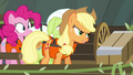 Applejack tries to take over steering S4E09.png