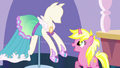 Bright Pony looking at Tripping the Light dress S5E14.png