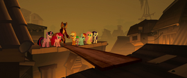 Capper making a bridge for the ponies MLPTM