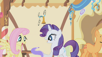 Fluttershy and Rarity having fun S1E05