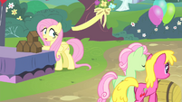 Fluttershy sees other ponies walking S4E14