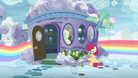 Mr. Shy chases clouds; Mrs. Shy tends to her garden S6E11