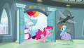 "Pinkie ""barely started your congratulation party"" S6E7.png"