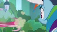 Pinkie Pie zooms off-screen again S9E15