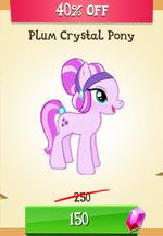Plum Crystal Pony MLP Gameloft