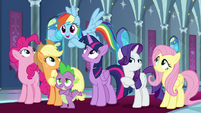 "Rainbow Dash ""about time you noticed!"" S9E1"