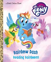 Rainbow Dash Reading Rainboom! cover