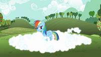 Rainbow Dash in cloud S3E3