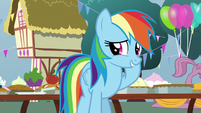 Rainbow Dash looking embarrassed S7E23