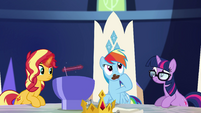 Rainbow Dash thinking for a moment EGSB