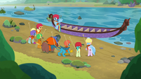 Rainbow directs students in canoeing S8E9