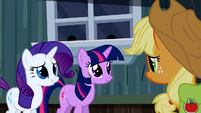 Rarity Applejack thank heavens S2E14