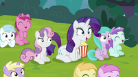 Rarity and fillies laughing loudly S7E6