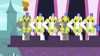 Royal Guards saluting S2E25
