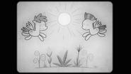 S02E22 Kadr z dwoma pegazami i roślinami