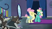 Snooty Fluttershy stomping her hoof S8E4
