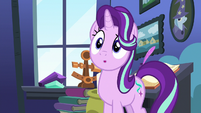 Starlight Glimmer observing Pinkie Pie S8E3