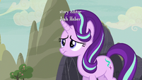 Starlight nervously approaches the village S6E25