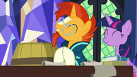 Sunburst excited to see what's inside the barrel S7E24