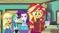 Sunset Shimmer looking at her old photo EGFF