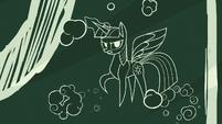 Twilight appears as a chalkboard drawing S8E16