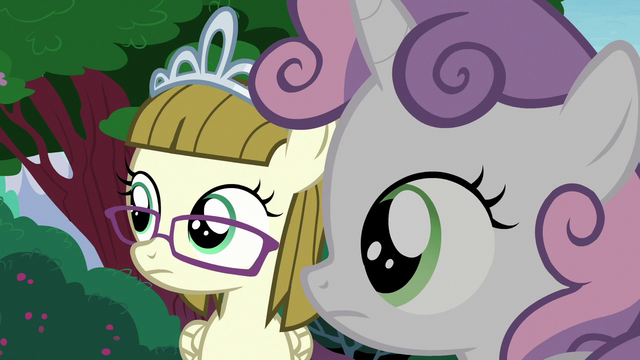 File:Zipporwhill and Sweetie Belle hear Rarity's voice S7E6.png