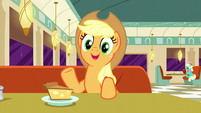 Applejack actually likes Plaid Stripes' idea S6E9