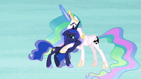Celestia and Luna inside Starlight's nightmare S7E10