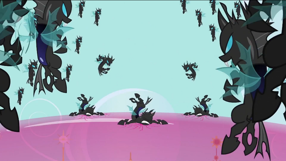 Changelings Smashing The Shield S2e26 Png