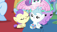 Flurry Heart levitated out of the pile of babies S7E22